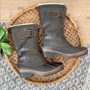 Sorel Winter Fancy Premium Grizzly Zip Front Boots